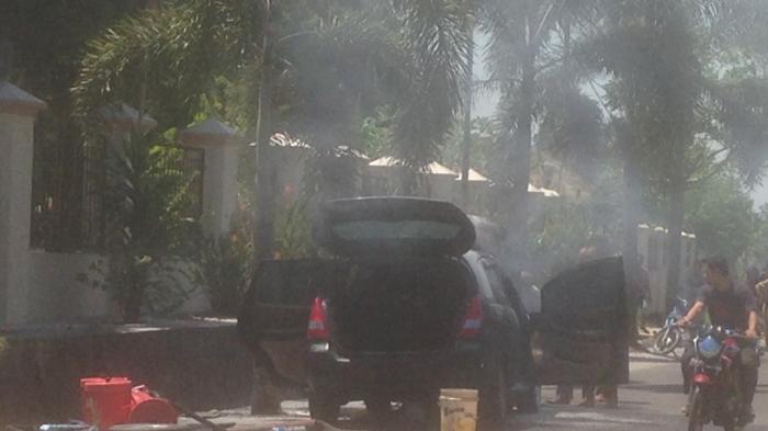 Mobil Terbakar di Air Salemba Pangkalpinang