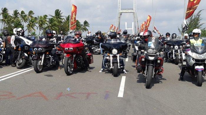 Bikers Moge Bangka Bike Festival Touring Jembatan Emas-Belinyu