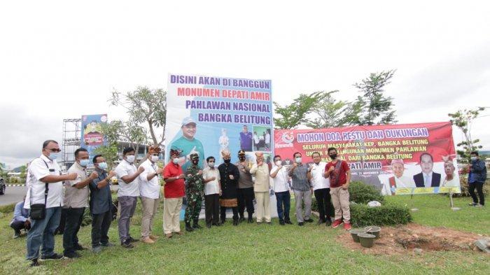 Pembangunan Monumen Pahlawan Nasional Depati Amir Sudah Masuk Tahap Pengerjaan