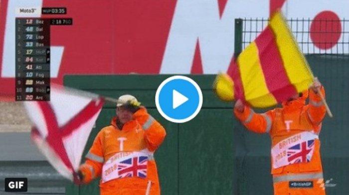 Moto GP Silverstone Inggris Dibatalkan Bukan Sekadar Karena Hujan, Terjadi Sesuatu di Lintasan