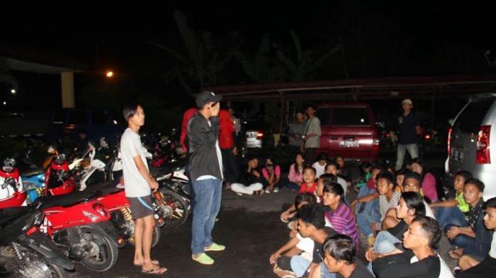 Puluhan Motor Milik Remaja Terjaring Razia Polsek Taman Sari