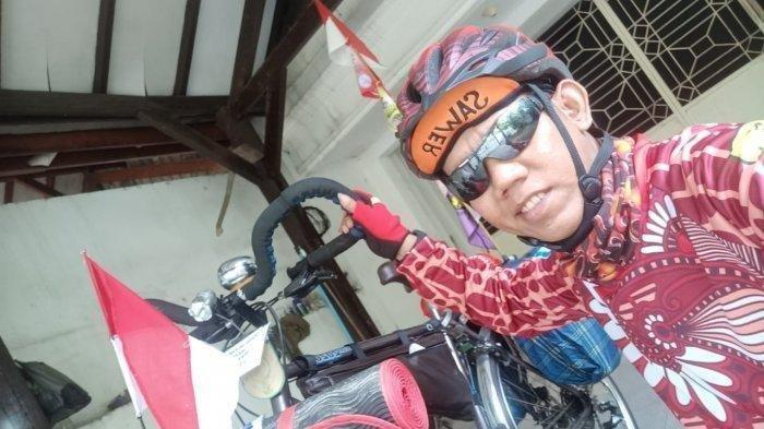 Sudah 5 Tahun Pria Ini Mudik Mengayuh Sepeda dari Jakarta ke Pekalongan