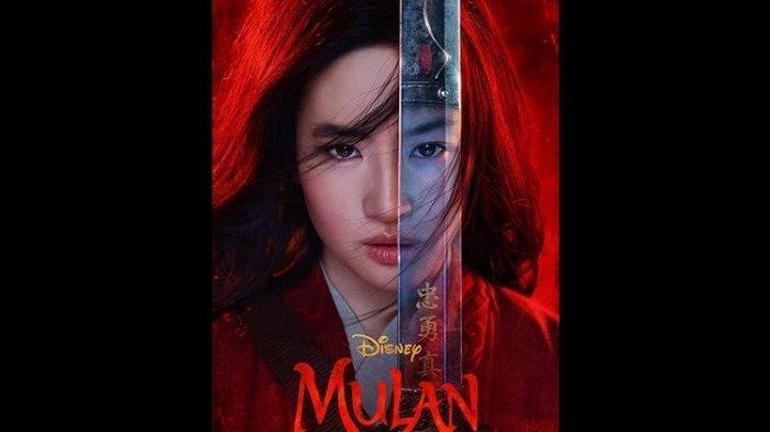 Poster film live-action Mulan (2020).