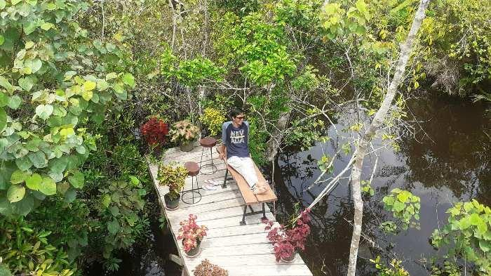Serunya Menjelajahi Mujang Mangrove Kurau Barat, Lokasi Syuting Artis Verrell Bramasta - mun4.jpg