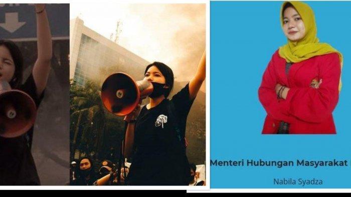 Terungkap Sosok Nabila Syadza Mahasiswi Viral yang Orasi Pancasalah Saat Demo Tolak UU Cipta Kerja