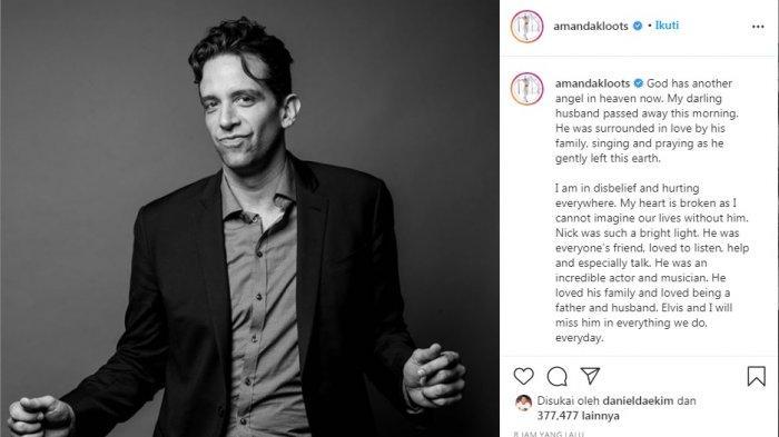 NASIB TRAGIS Aktor Nick Cordero Dirawat Meninggal Setelah Berjuang 3 Bulan Lawan Covid-19
