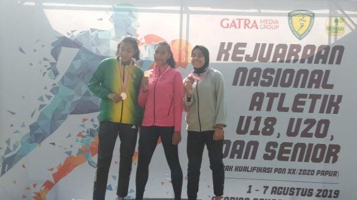 Nie Atlet Asal Bangka Raih Mendali Emas Nomer Final Lompat Jangkit Putri U-18 Kejurnas Atletik