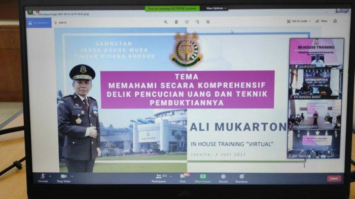 In House Training virtual yang dilaksanakan oleh Kejaksaan Agung RI