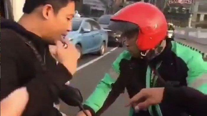 Aksi Driver Ojol Tonjok Pemotor Terekam Video, Pelaku Kabur saat Diajak ke Polsek