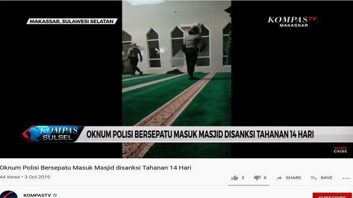 Begini Nasib Oknum Polisi Bersepatu Masuk Masjid saat Kejar Mahasiswa