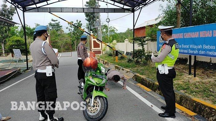 Heboh, Polisi di Bangka Barat Dihukum Push Up, Saat Kepergok Lagi Begini