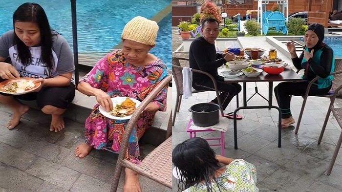 Ibu Ayu Ting Ting Pamer Foto Lagi Makan Bersama, Posisi Duduk ART Sudah Berumur Jadi Sorotan