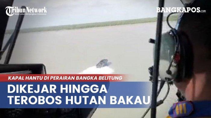 Polda Babel Buka Jalan di Hutan bakau Tanjung Jati untuk Evakuasi Kapal Hantu yang Terjebak