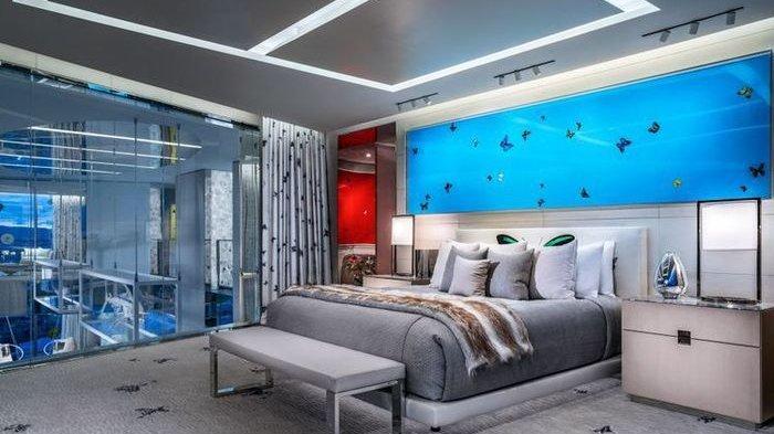 Tarifnya Rp1,4 Miliar per Malam, Begini Penampakan Isi Kamar Hotel di Las Vegas, Ada Hiu Berenang
