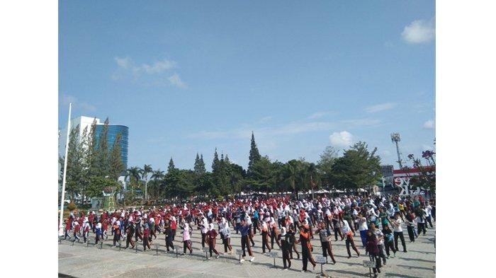 SMA Negeri 1 Pangkalpinang Gelar Gladi Resik Senam Bedincak, Persiapkan Acara Puncak Besok