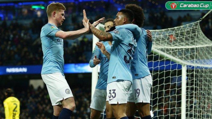 Satu Kaki Manchester City Sudah di Final Piala Liga Inggris Setelah Hajar Burton Albion 9-0