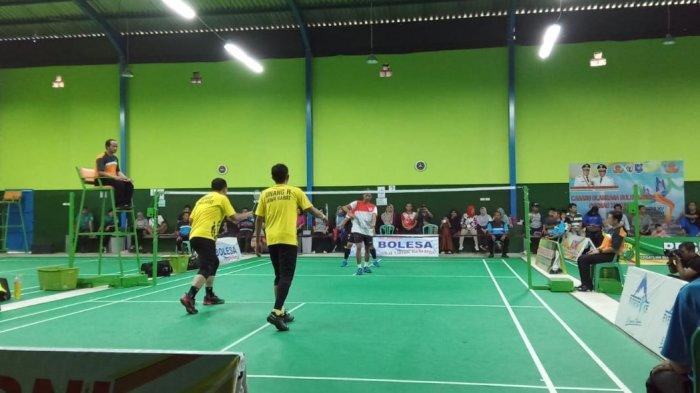 Ganda Putra Bulutangkis Jawa Barat Sukses Juarai Pornas XV Korpri