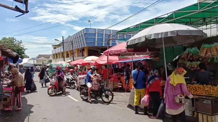 Mikron Nilai Pasar Tradisional di Sejumlah Daerah Bangka Belitung Belum Terapkan Physical Distancing