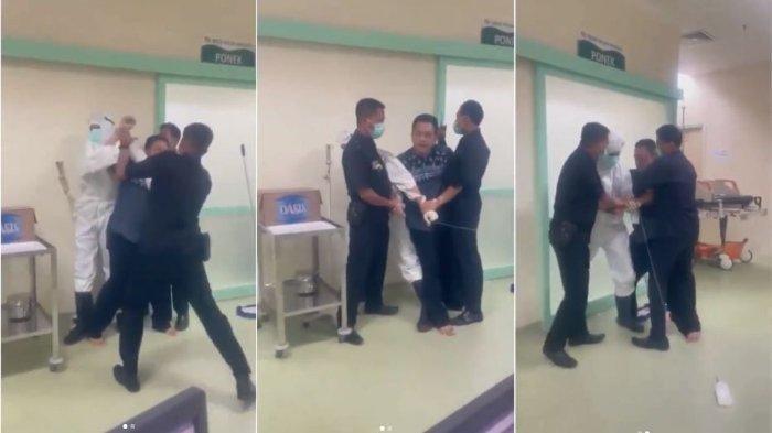Buntut Pasien Covid-19 Ngamuk di Rumah Sakit, Begini Kondisi Dua Satpam yang Menangani