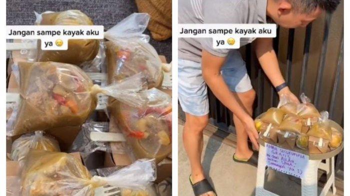 Viral Video Tiktok Pasutri Ini Selalu Berbagi Makanan Gratis, Karena Sedekah Suami Bisa Sembuh