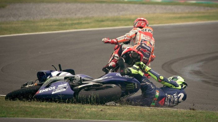 Marc Marquez Sangkal Lakukan Hal Gila Terhadap Valentino Rossi