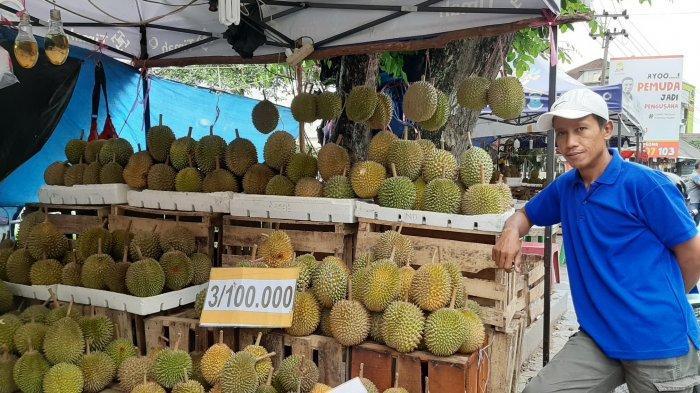 Musim Durian, Daftar Harga Si Raja Buah Khas Bangka di Jalan Sudirman dan Pasar Pagi Pangkalpinang