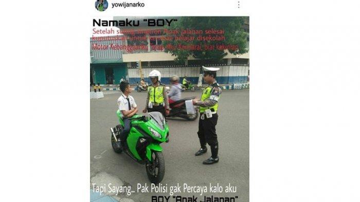 Ditilang Polisi, Siswa SMP Kendarai Motor Ninja Ini Langsung Bergaya Ala 'Boy Anak Jalanan'
