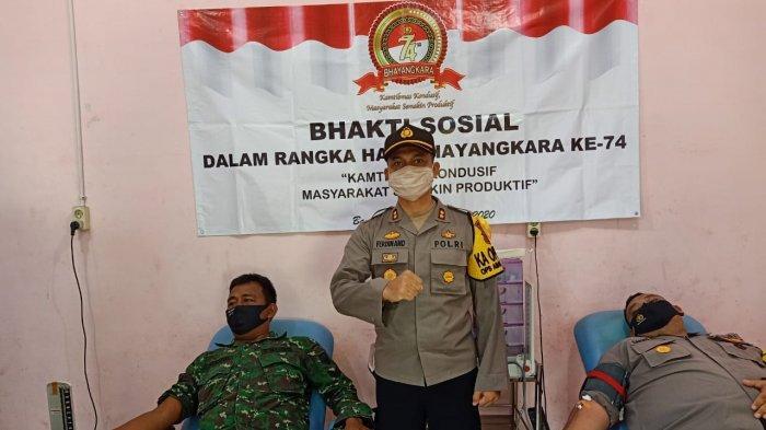 Sambut Hari Bhayangkara, Polres Bangka Selatan Bersama TNI Dan Pol PP Gelar Donor Darah