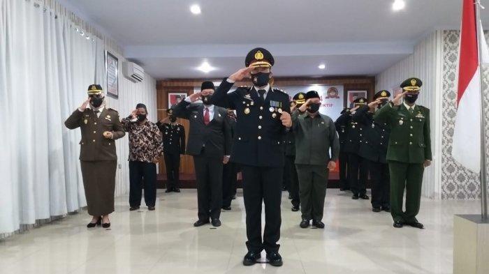 HUT Ke-74 Bhayangkara, Polres Bangka Selatan Gelar Upacara Virtual