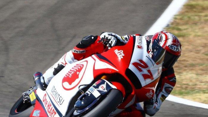 Andi Gilang Makin Tajam di Moto2 Andalusia, Selisih Cuma 0,359 Detik denganYang Tercepat