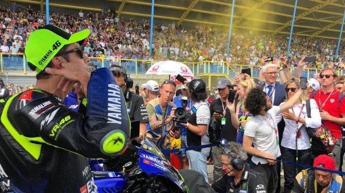 Live Streaming MotoGP Brno Republik Ceko 2019, Valentino Rossi Ungkap Kondisinya Sebelum Race