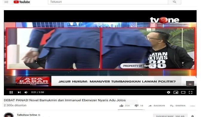 Relawan Jokowi Mania dengan Novel Bamukmin Beradu Mulut, Pembawa Acara sampai Berlari Melerai