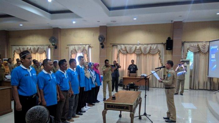 Bupati Bangka Membuka Forum Grup Discussion dan Pengukuhan Agen Sensus Kabupaten Bangka