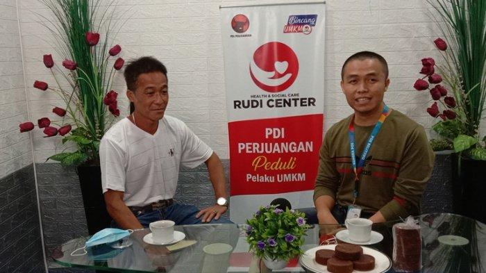 Pemilik Gula Kabung Helly Cen, Men Sian saat hadir dalam Bincang UMKM, Jumat (25/9/2020).