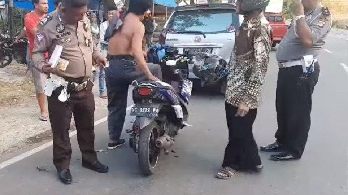 Polisi Ini Akhirnya Nyerah Setelah Pemotor Ngamuk dan Minta Ditembak Gara-gara Ditilang