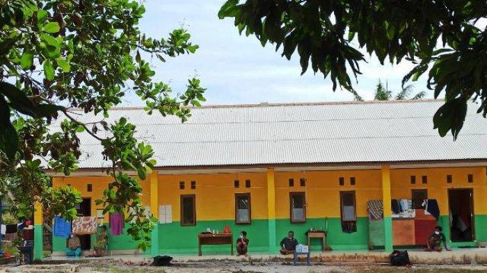 Penampakan terkini di Karantina Desa Sadai sebagai bagian PPKM Mikro, Selasa (30/3/2021).