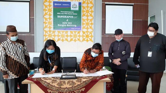 Wujudkan Kanal Online, IAIN SAS Bangka Belitung Jalin Kerja Sama dengan Bangka Pos