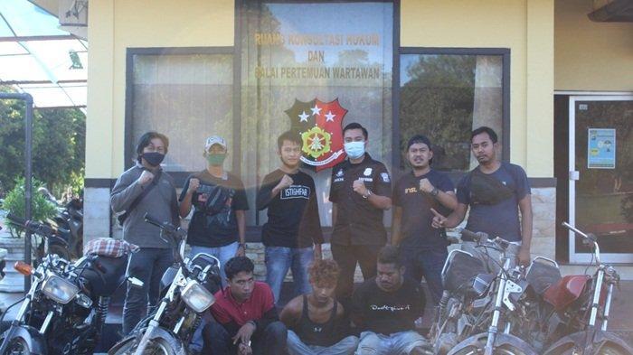 Polisi Ringkus Tiga Pelaku Spesialis Pencuri Motor, Barang Bukti 4 Unit Motor RX King