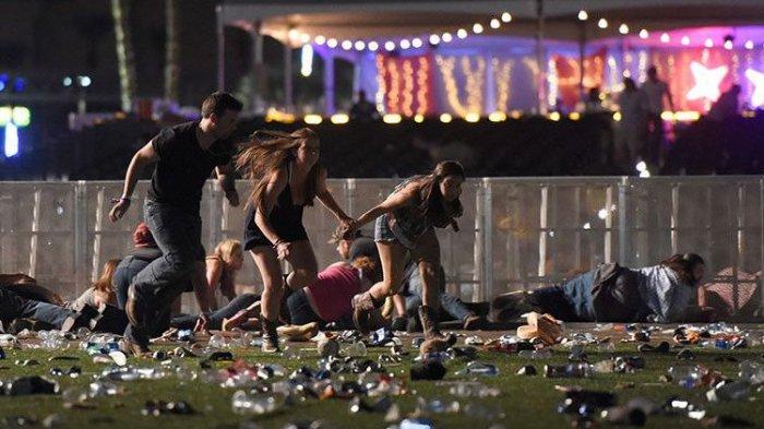 VIDEO-VIDEO Aksi Brutal Penembakan Massal di Las Vegas, 58 Tewas dan Ratusan Orang Terluka