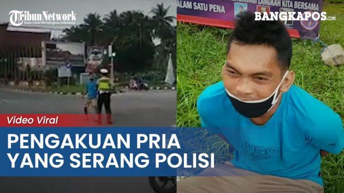 Ini Pengakuan Akiong, Pria yang Nekat Serang Polisi hingga Videonya Viral