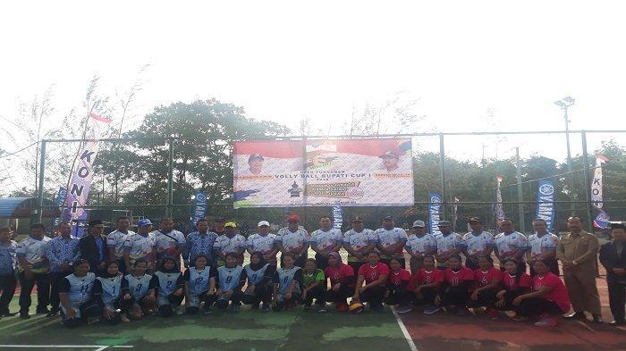 60 Peserta Ikuti Turnamen Volly Ball Bupati Cup I Bangka Selatan