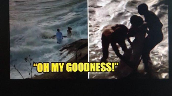 Hari Bahagia Berubah Menjadi Petaka, Pasangan Pengantin Tersapu Gelombang saat Berpose di Pantai