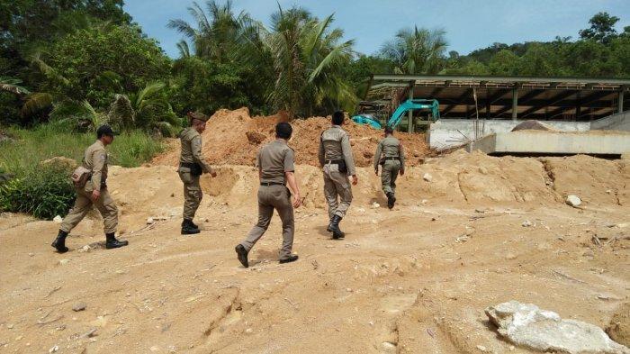 Satpol PP Cek Pembangunan Patung di Kawasan Wisata Religi Taman Bintang Samudra