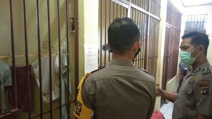 Jebol Plafon Rutan, Empat Tahanan Polsek Bukit Intan Kabur