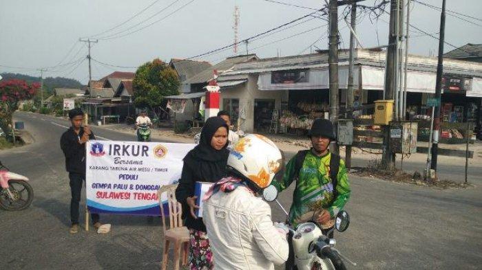 Karang Taruna dan Ikrur Air mesu dan Mesu Timur Lakukan Penggalangan Dana Korban Gempa