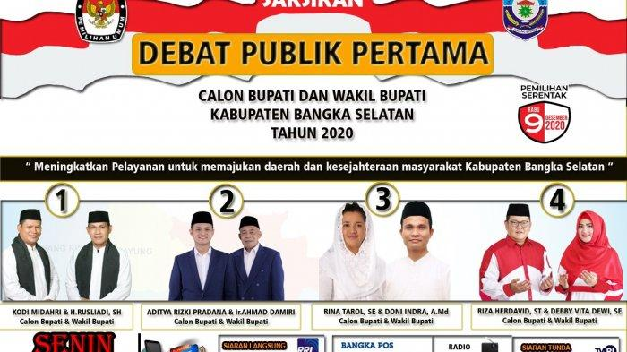Ketua KPU Bangka Selatan Ajak Masyarakat Saksikan Debat Publik Secara Online