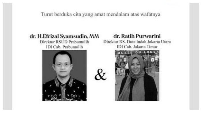 Inna lillahi Wa Inna Ilaihi Rojiun, IDI Berduka Kehilangan Dua Dokter Direktur Rumah Sakit