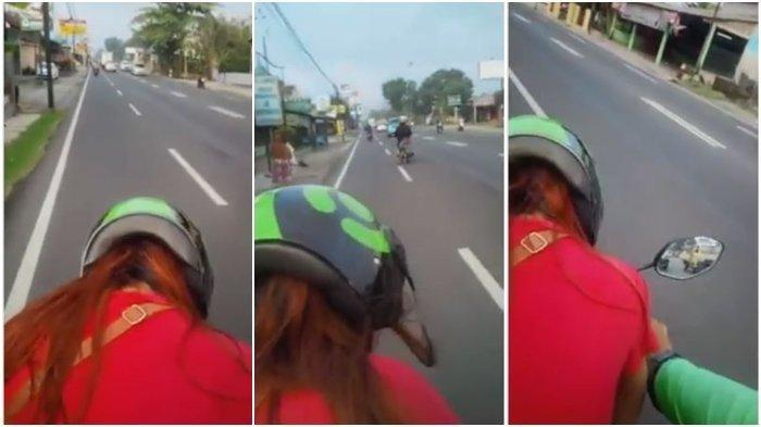 Viral Video Wanita Penumpang Ojek Online Minta Duduk Didepan, Warganet Ramai Berkomentar
