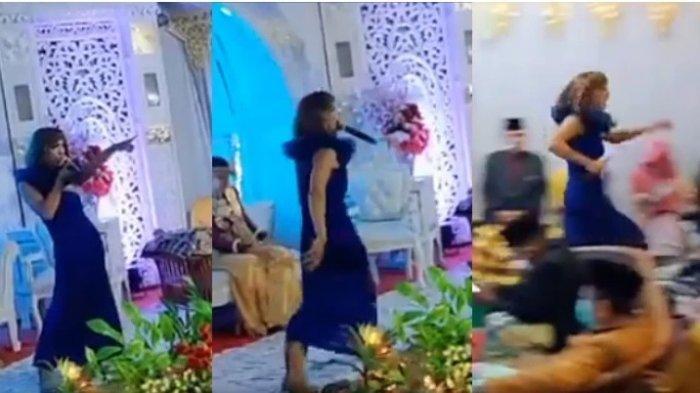 Penyanyi Acara Kawinan Ini Viral, Ia Berlari, Berguling Seperti Orang yang Ditinggal Kawin