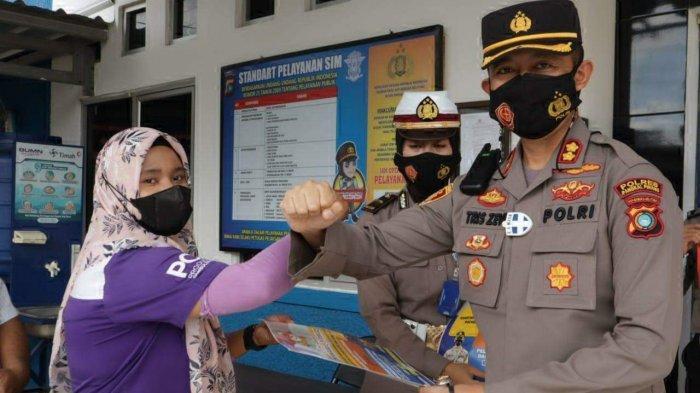 Herawati Tak Menyangka Dapat SIM Gratis dari Polres Pangkalpinang